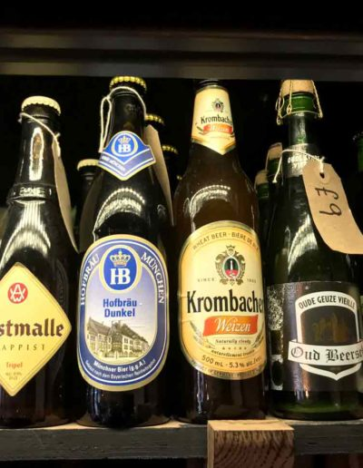 A slection of bottled beers