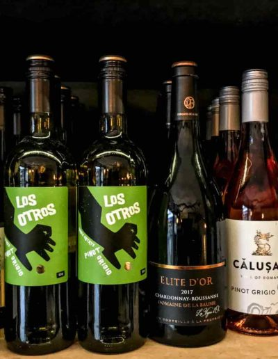 A small selection of the white and rosé wines vailable at the Little Ale House